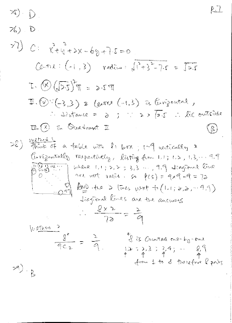 2019 DSE Math Paper 2 Detailed Solution 數學 卷二 答案 詳解 Q25,26,27,28,29