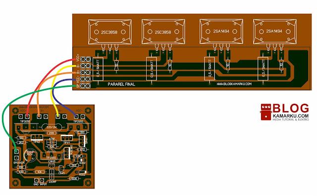 Cara Membuat Pararel Driver Power amplifier agar lebih bertenaga