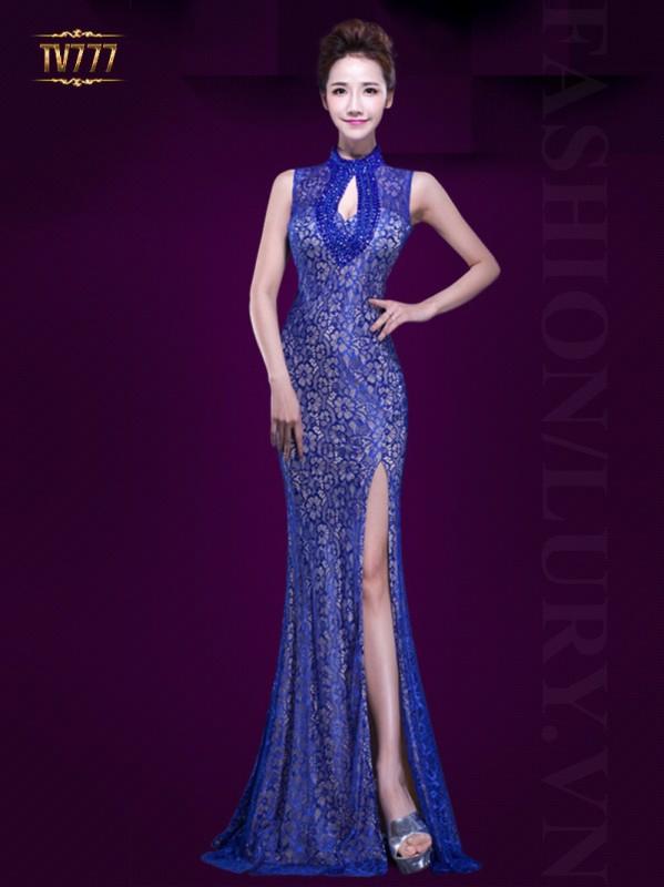 Thời trang đầm dạ hội dáng dài giúp cô nàng tôn lên đường cong quyến rũ