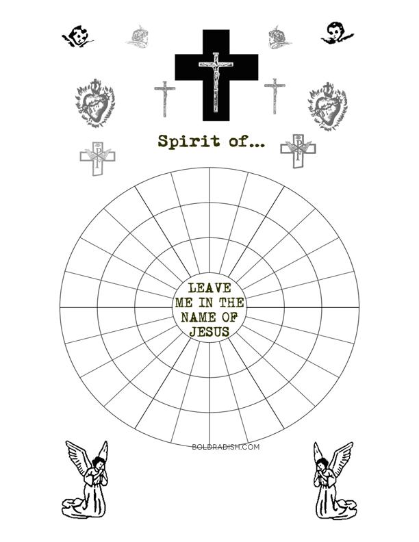 Bold Radish: Deliverance Wheel Worksheets (Removing Curses)