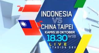 Jadwal Timnas Indonesia vs Taiwan -  AFC U19 Championship 2018