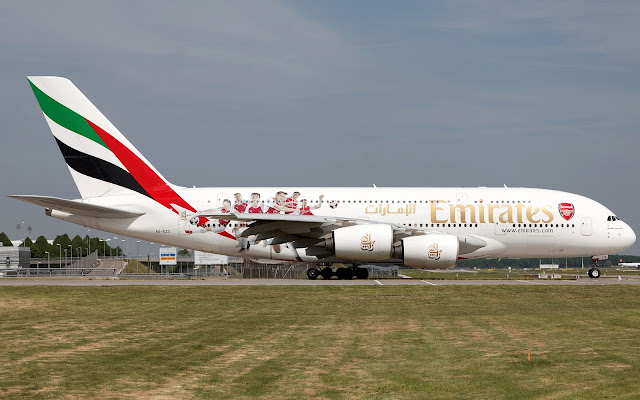 emirates a380 arsenal livery
