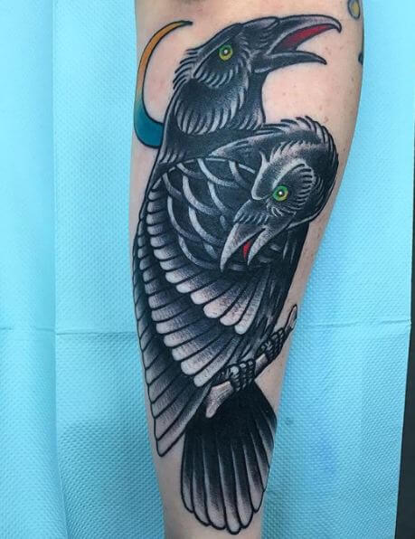 50 Crow Raven Tattoo Designs For Men 2019 With Meaning Tattoo Ideas