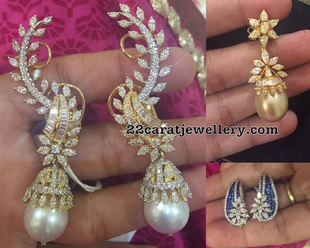 Opulent Diamond Drops Earrings