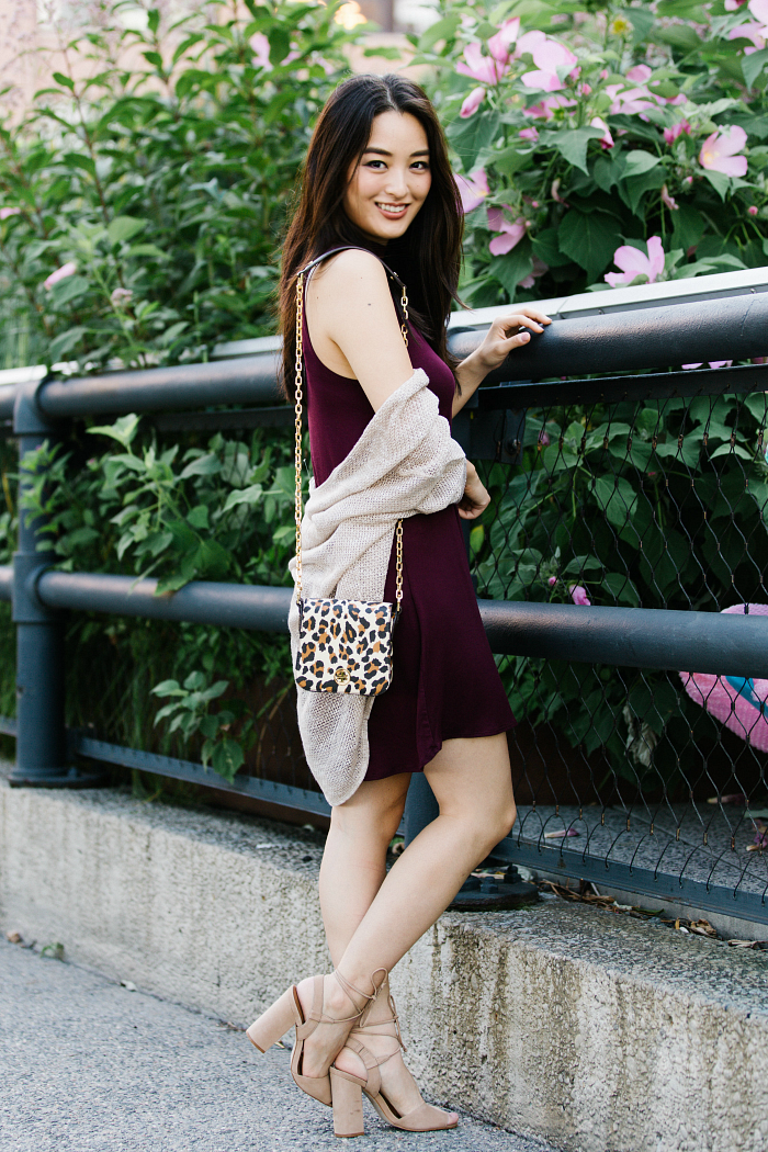 wet seal burgundy dress