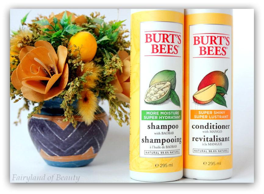 Отзыв: BURTS'S BEES Органические средства для волос. Увлажняющий шампунь с баобабом и Супер блестящий кондиционер с манго.