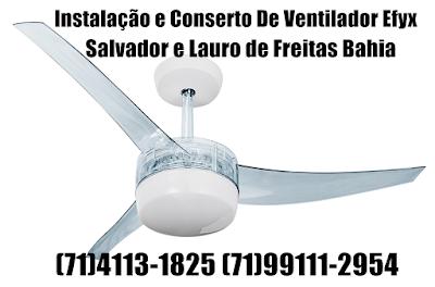 instalação e conserto de ventilador de teto em salvador