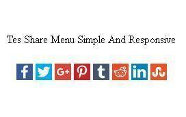 Widget Share Menu Simple And Responsive