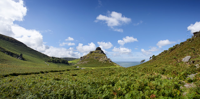 Landscape at the Valley of the Rocks near Lynton in Exmoor by Martyn Ferry Photography