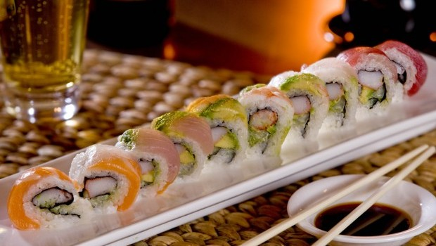 Sushi Goes Well with Sake