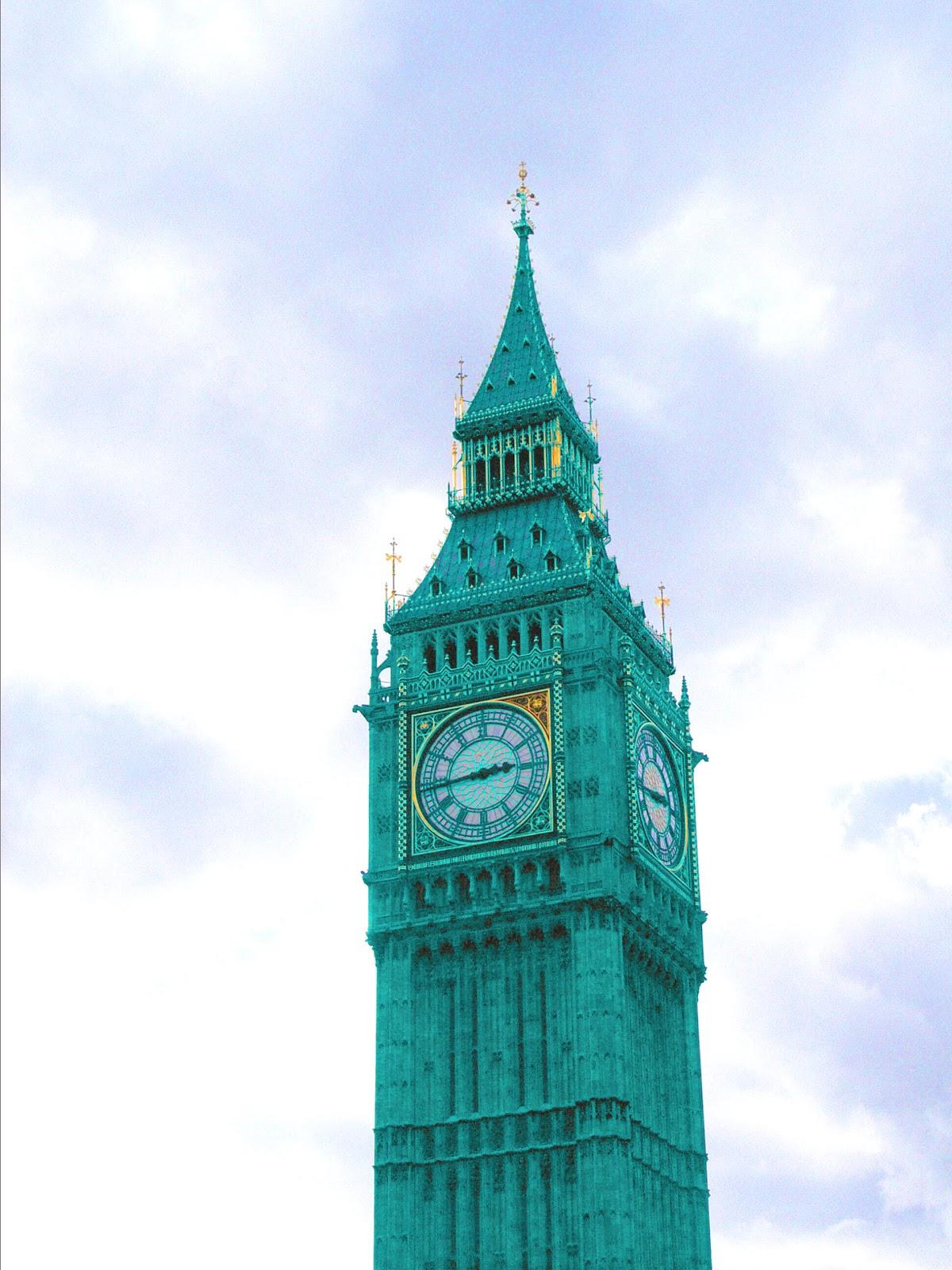 Bilder-Bibliothek: London Wahrzeichen - Big Ben in neuer Farbe
