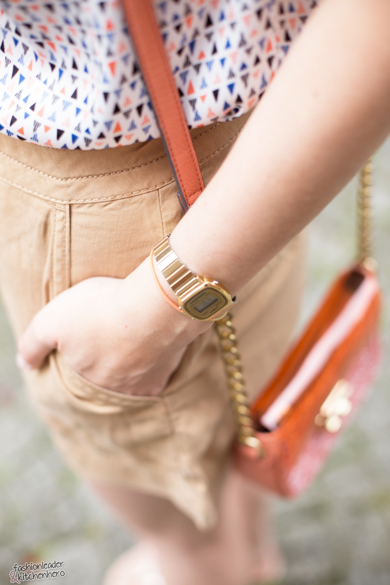 Highwaisted Shorts & Orange Details