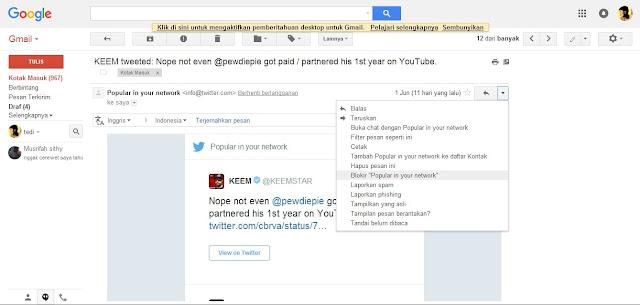 cara blokir pesan spam di gmail