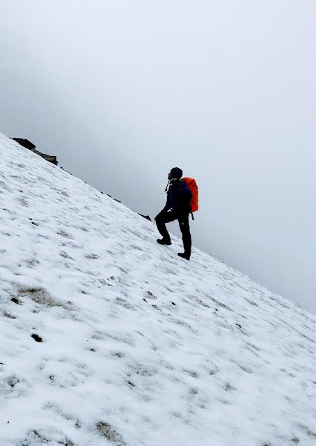 High altitude trekker
