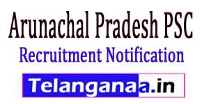 APPSC Recruitment Notification 2017 Arunachal Pradesh PSC Jobs