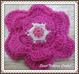 crochet flower motif free pattern,