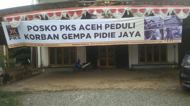 Bergerak Cepat, PKS Buka Posko Pengungsi Gempa Aceh