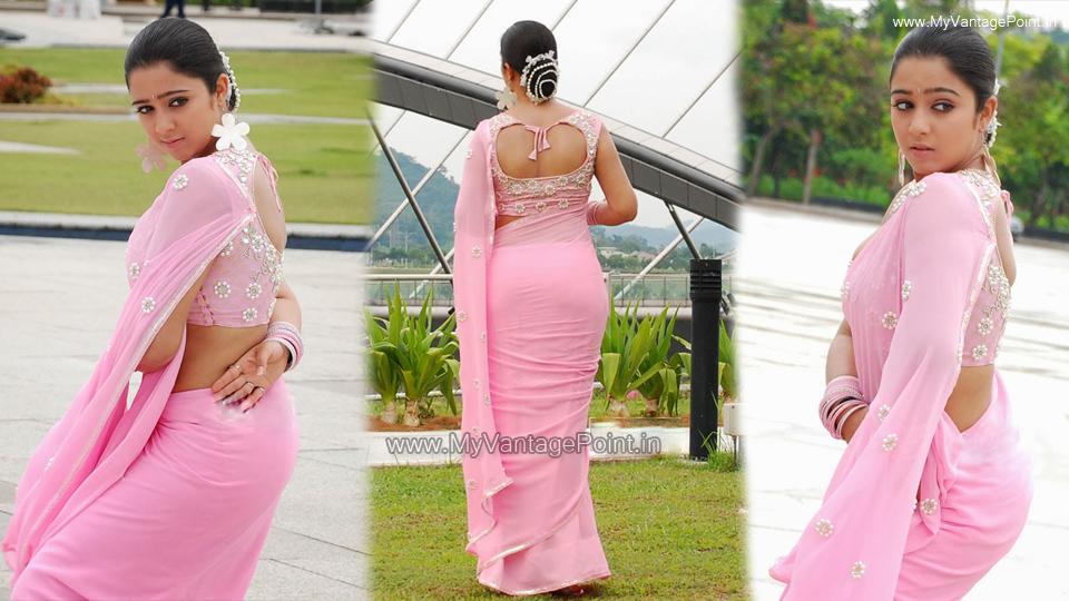 charmme-kaur-hot-in-saree-from-kousalya-supraja-rama-movie-charmi-kaur-hot-back-in-saree-charmme-kaur-in-pink-saree