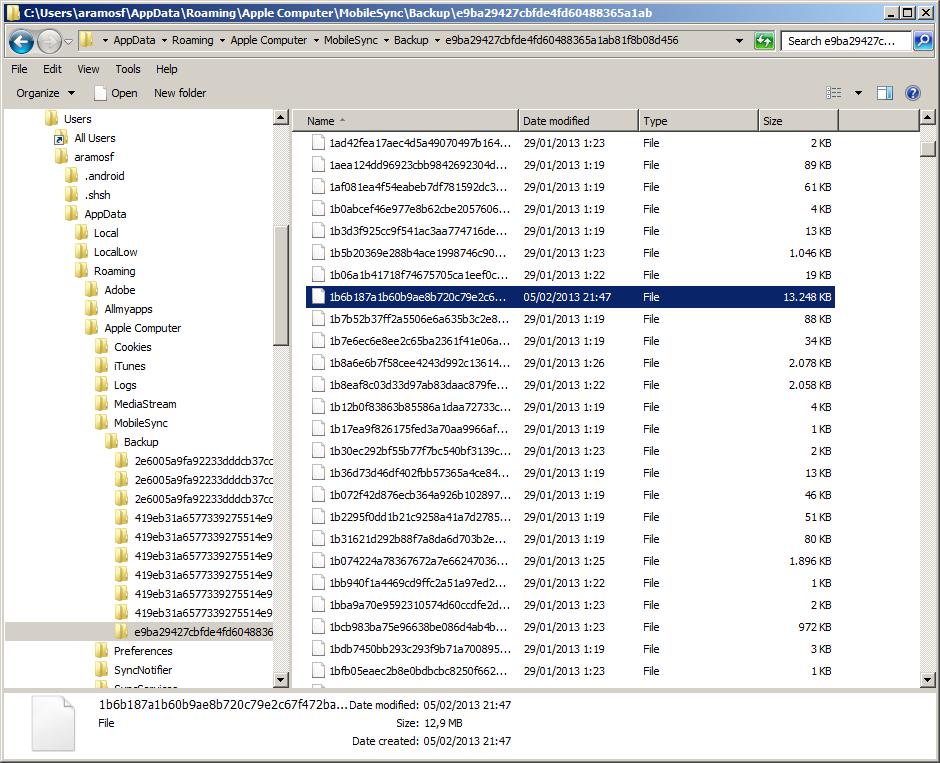 espiar whatsapp robando la base de datos de un backup de apple