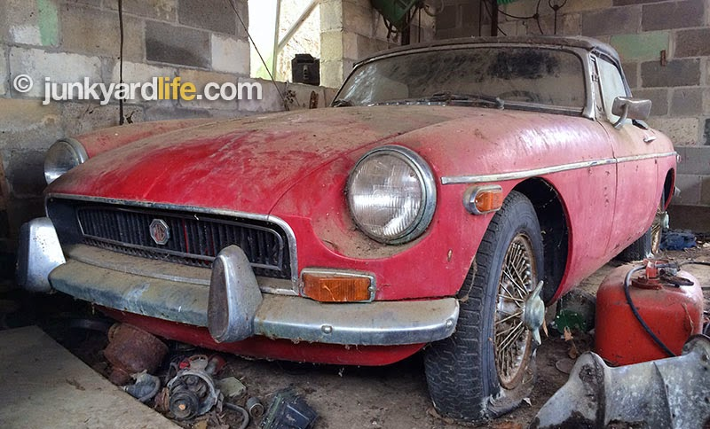 A new lease on life for this red 1972 MGB roadster is in order.