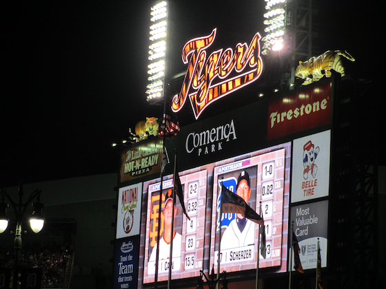 Detroit World Series 2012 Comerica Park Scoreboard