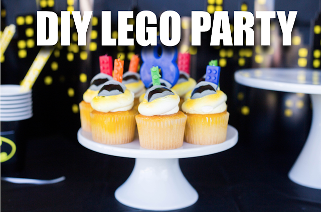 lego batman cupcakes for birthday party
