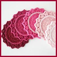 Posavasos crochet degradados