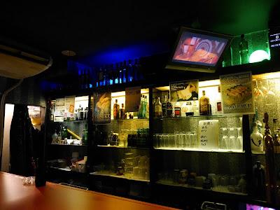 Sun Set cafe gay bar in Nagoya, Japan - the bar.