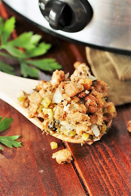 Stuffing Made in the Crock Pot Image