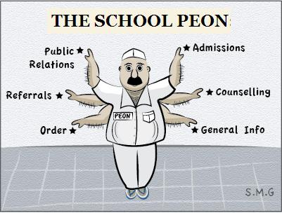 our school peon short essay