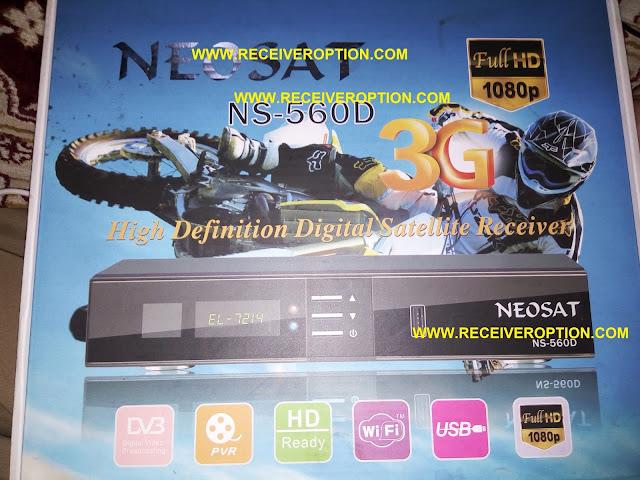 NEOSAT NS-560D HD RECEIVER POWERVU KEY SOFTWARE