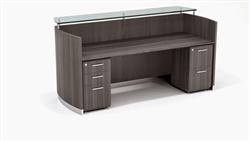 Gray Reception Desk