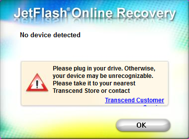 transcend online recovery