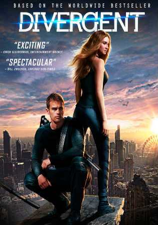 Poster of Divergent (2014) BRRip 1080p Dual Audio 2Gb