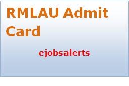 RMLAU Admit Card 2017