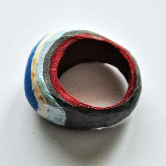 paper ring beginning to take shape after sanding