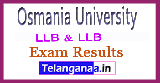 Osmania University OU LLB  LLB (Hons) Exam Results