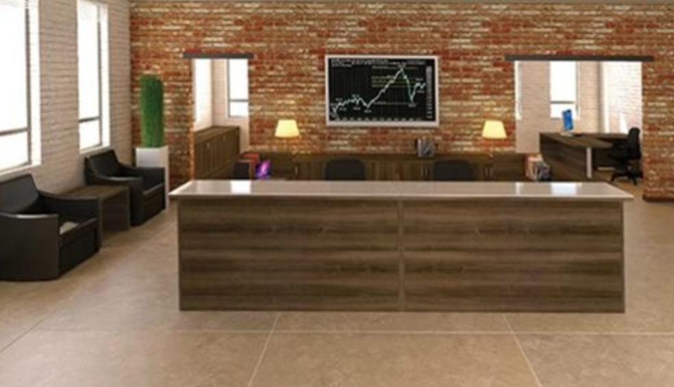 Amber Series Multi User Reception Desk by Cherryman