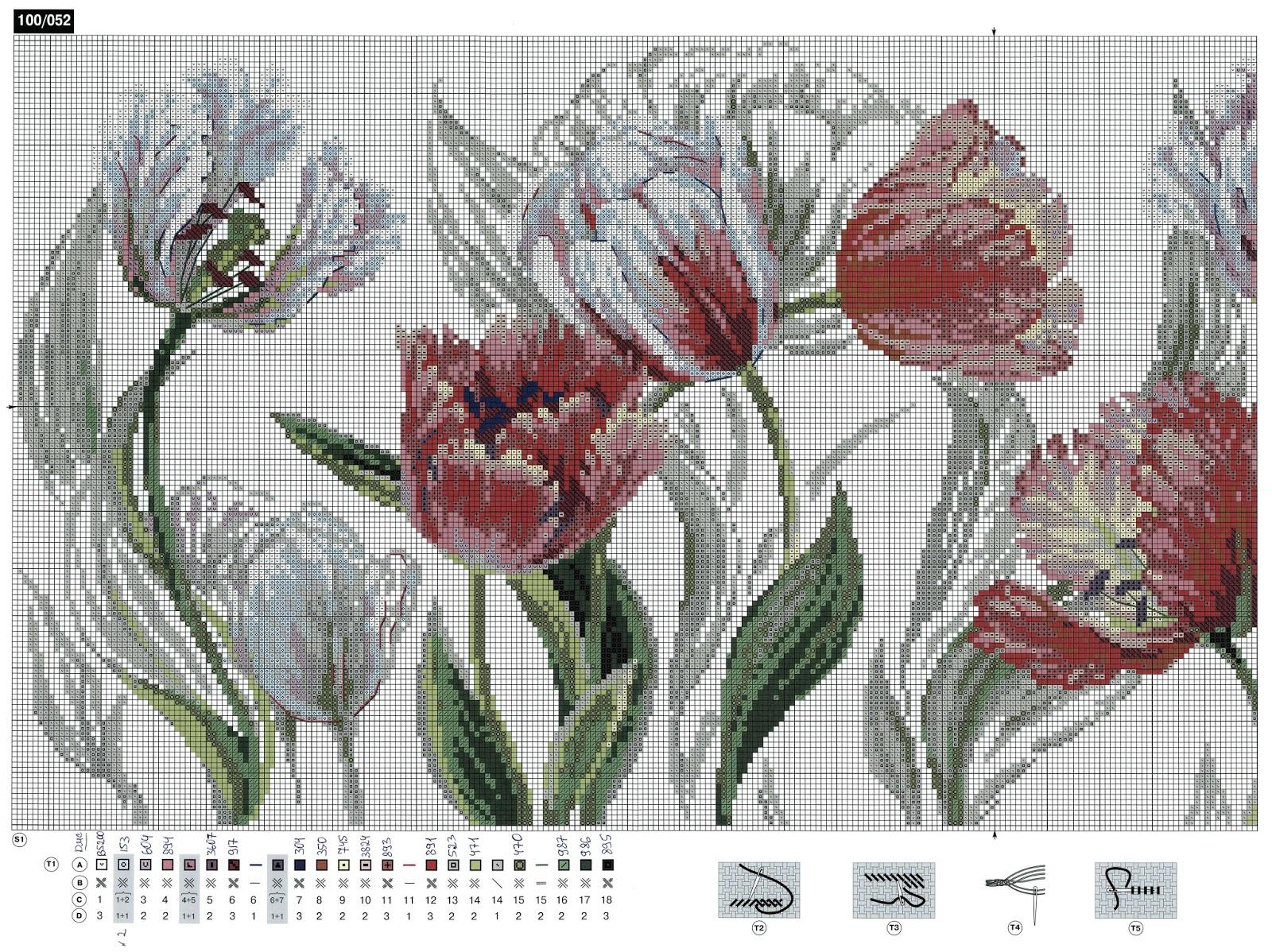 Вышивка тюльпан от риолис 131