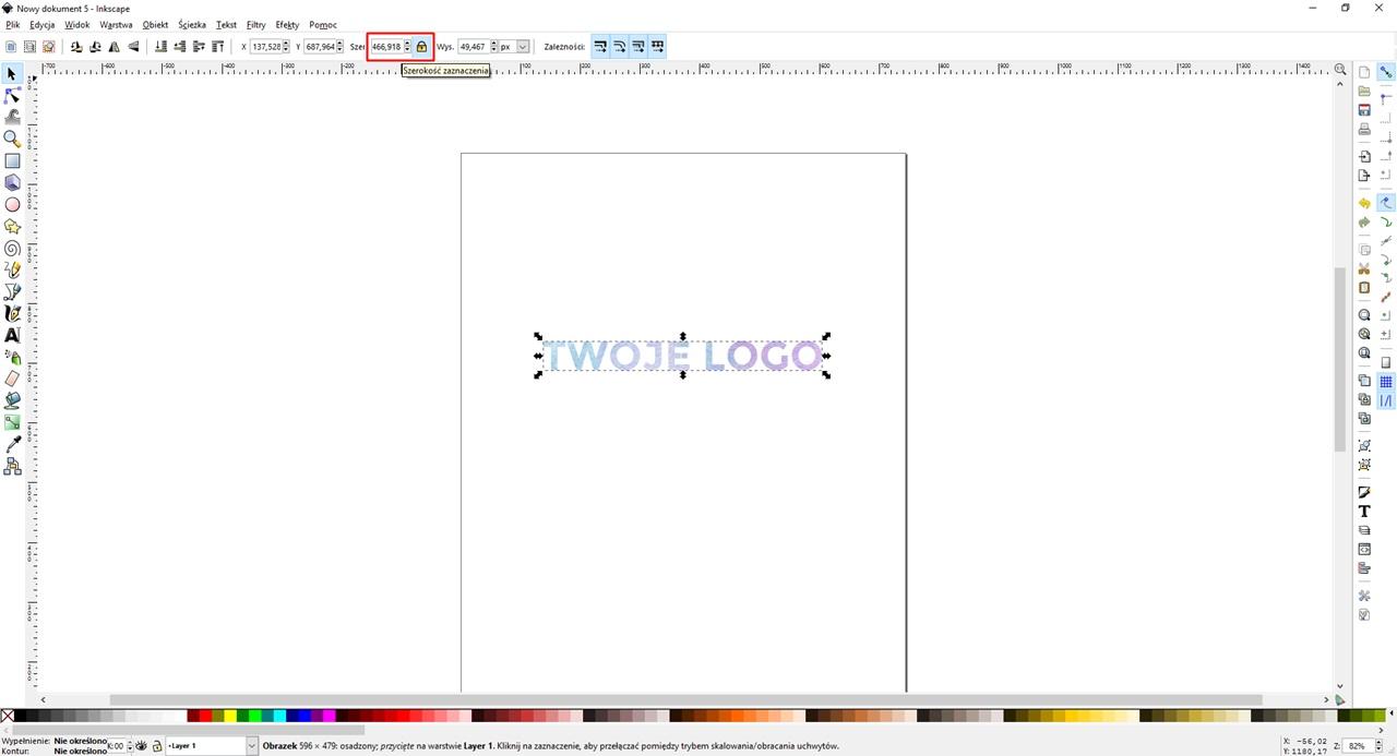 Jak zrobić proste logo- napis wycięty z tła