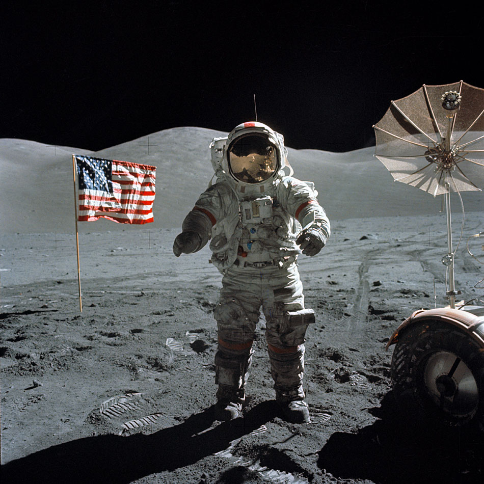 EBL: Old Glory still standing at most Apollo lunar landing ...