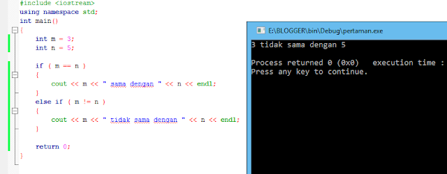 9#  Operator Assignment, Aritmatika, dan Perbandingan Bahasa Pemrograman C++