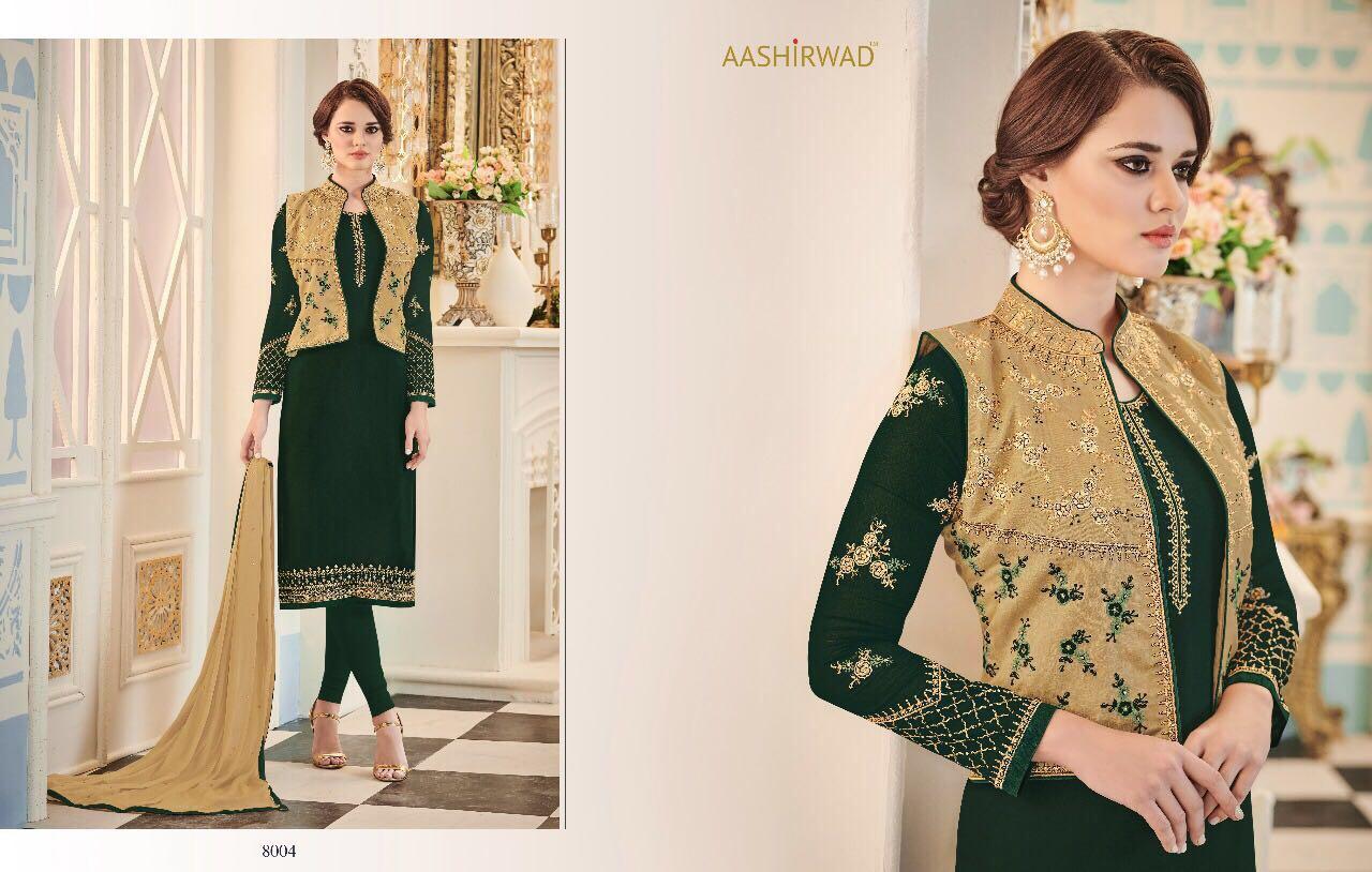 NURA-Heavy Designer Semi Stitched Georgette Salwar Suit
