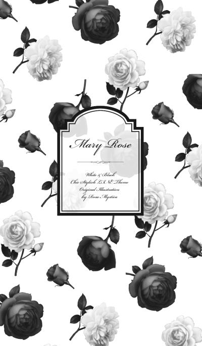 Mary Rose - White & Black