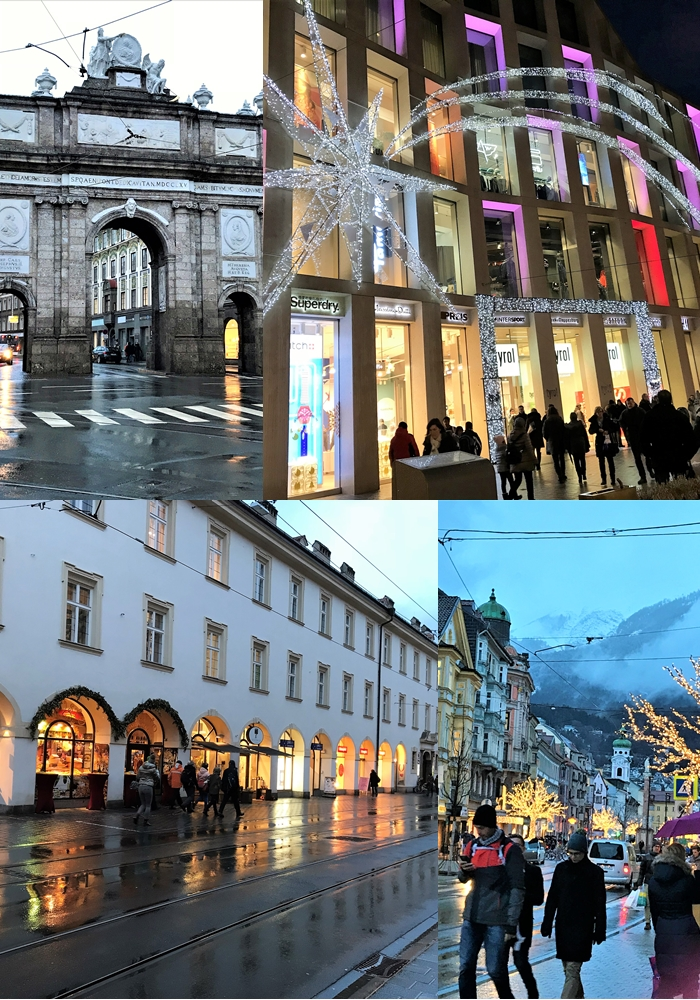 Maria-Theresien-Strasse is in Innsbruck Austria.