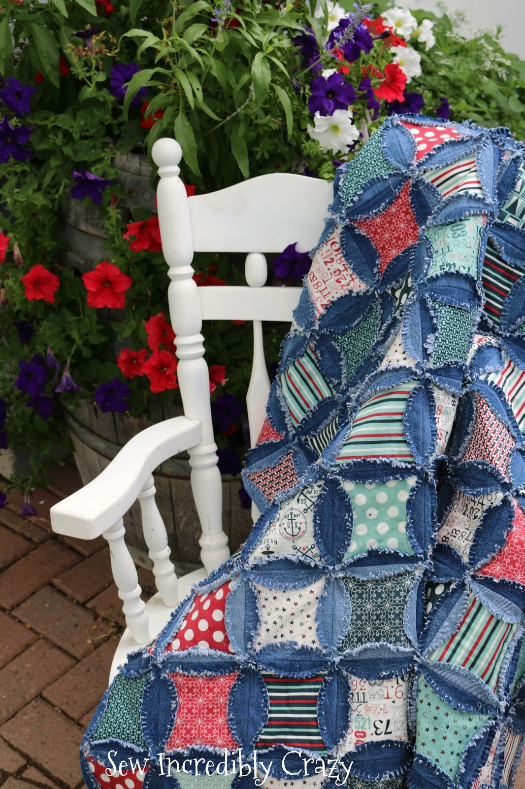 Sew Incredibly Crazy My Blue Jeans Rag Quilt