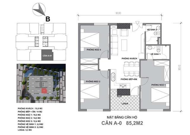 Thiết kế căn hộ A Start Up Tower