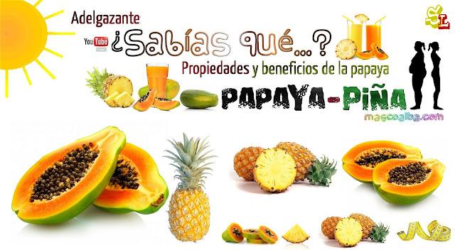 Jugo de papaya y pina para bajar de peso