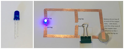 LED Paper Circuits for kids