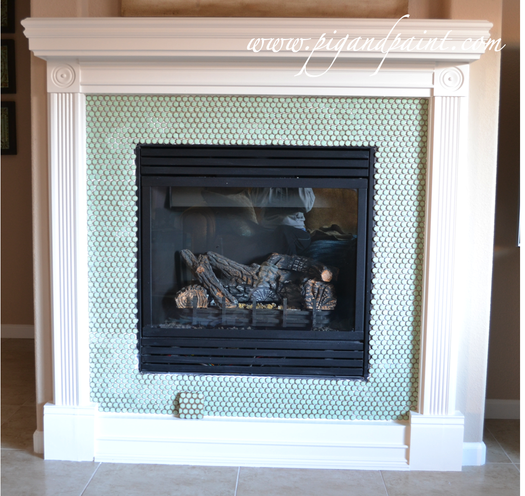 Pig and Paint: Fireplace: Grout Doubt
